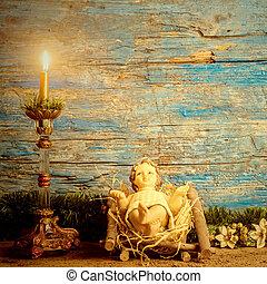 jesuskind, traditionelle , weihnachtskarte