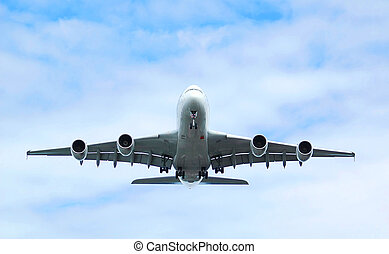 jet airline - massive passenger jet on final approach