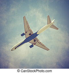 Airliner - Jet Airliner with Sky Background