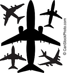 jet airliners in the air