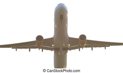 Jet airplane departure - Jet airplane take-off and climb out...