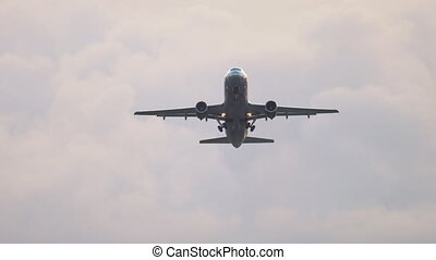 Jet airplane departure - Jet airplane take-off and climb...