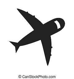 jet airplane flying icon vector illustration