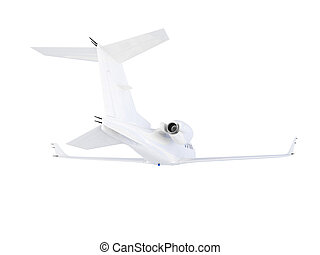 Jet Airplane - isolated jet airplane on a white background