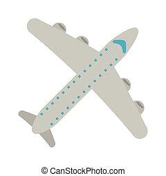 jet airplane symbol isolated