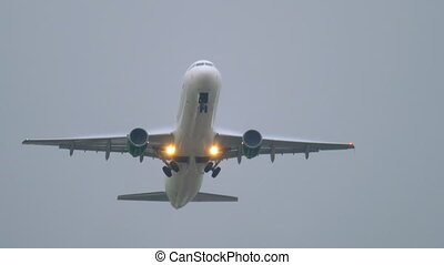 Airplane take-off and climb - Jet Airplane take-off and...