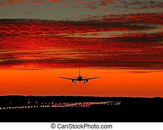 jet, atterrissage