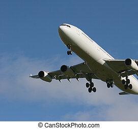 Jet coming for landing