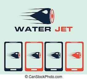 jet de agua, ilustración
