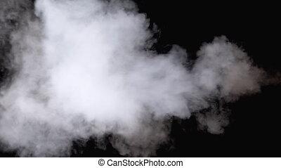 jet eau, vapeur, noir, blanc, mouvement, vapor., arrière-...