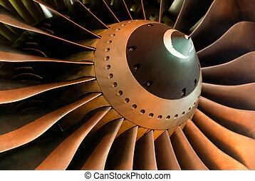Jet engine - A close up of a jet engine