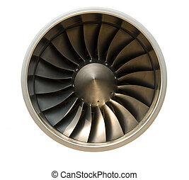 Jet engine - A jet engine - isolated with path