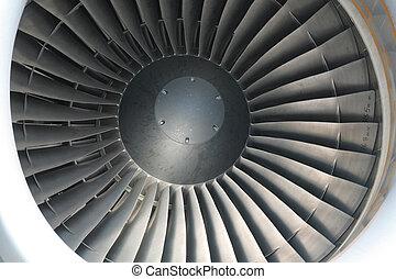 jet engine close up for background