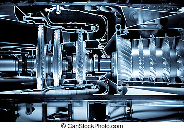 jet engine cutaway - jet engine cross section cutaway detail...