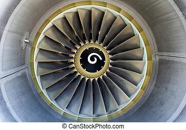 Jet engine detail.