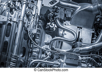 jet engine detail closeup