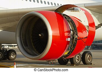 Jet engine - Maintenance of the jet engine before take off.
