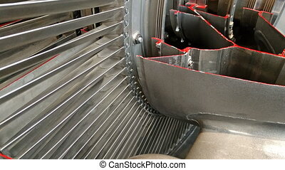 jet engine - Detailed exposure of a turbo jet engine.