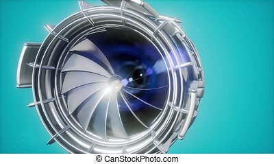 jet engine turbine parts illustration