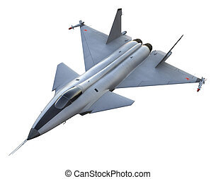 3D render of russian jet fighter