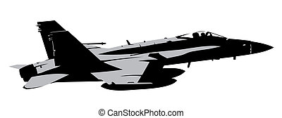 Abstract vector illustration of jet fighter