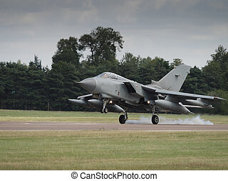 Jet fighter aircraft - A Tornado jet fighter landing