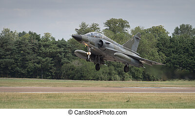 Jet fighter aircraft - Mirage 2000 jet fighter bomber in...