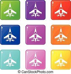 Jet fighter plane set 9