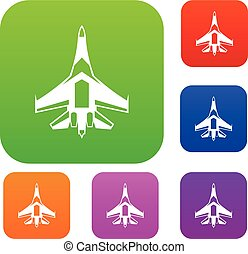 Jet fighter plane set collection