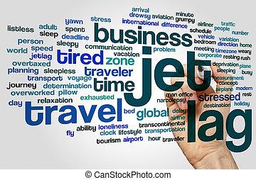 Jet lag word cloud - Jet lag concept word cloud background