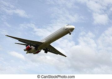 jet, landstigning