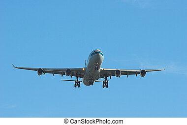 Jet on final approach