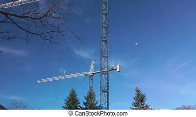Jet Over A Crane