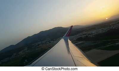 Jet plain departure from Costa del Sol, Malaga