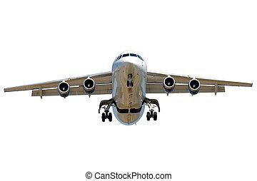 Jet plane on white background