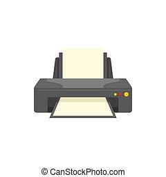 Jet printer icon, flat style
