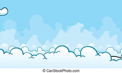 Jet Rise - A passenger jet rises from the clouds.