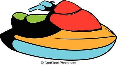 Vecteurs de ic ne style ski dessin anim jet style jet symbole csp40410233 - Jet ski dessin ...