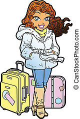 Jet Setter - Pretty Female International Traveler With...