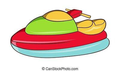 Jet ski icon animation cartoon best object isolated on white background