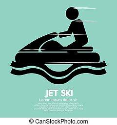 Jet Ski Sport Sign. - Jet Ski Sport Sign Vector Illustration...