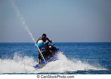 Jet-ski  - Man in action with his jet-ski