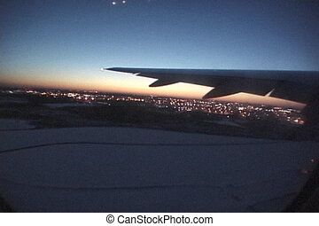 jet-takeoff - this is a shot out of the window of a...