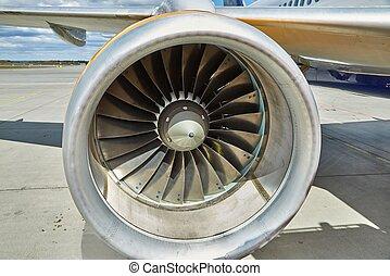 Jet turbine Closeup