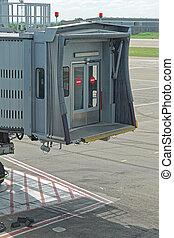 Jet way connection - Movable skybridge passenger boarding...