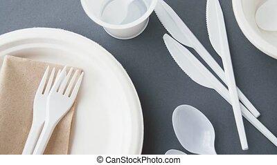 jetable, plats, plastique