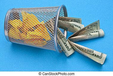 jetant argent loin