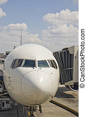 Jets Nose at the Gate