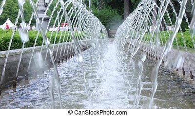 Jets of water fountain