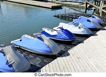 JetSki for rent at a marina in Florida.